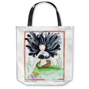 Unique Shoulder Bag Tote Bags | Marley Ungaro Meditating Mermaid