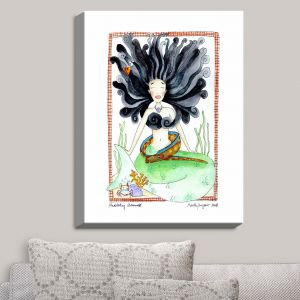 Decorative Canvas Wall Art | Marley Ungaro - Meditating Mermaid