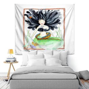 Artistic Wall Tapestry | Marley Ungaro Meditating Mermaid