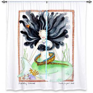 Decorative Window Treatments | Marley Ungaro Meditating Mermaid