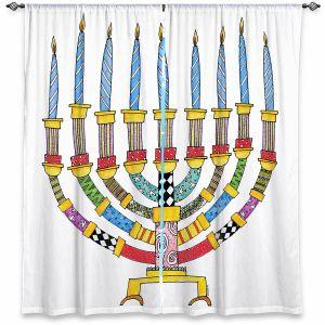 Decorative Window Treatments   Marley Ungaro - Menorahh   Jewish Candles
