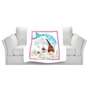 Artistic Sherpa Pile Blankets | Marley Ungaro Mining Mermaid