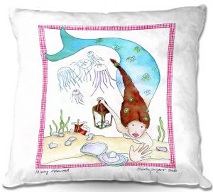 Throw Pillows Decorative Artistic | Marley Ungaro Mining Mermaid