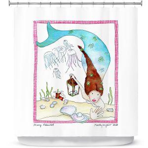 Premium Shower Curtains | Marley Ungaro Mining Mermaid