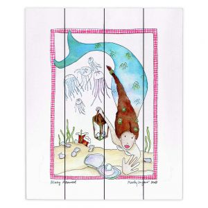 Decorative Wood Plank Wall Art | Marley Ungaro Mining Mermaid