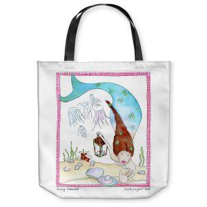 Unique Shoulder Bag Tote Bags | Marley Ungaro Mining Mermaid