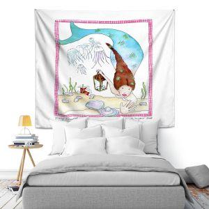 Artistic Wall Tapestry | Marley Ungaro Mining Mermaid
