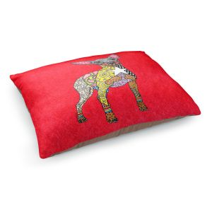 Decorative Dog Pet Beds   Marley Ungaro - Mini Pinscher Red   Dog animal pattern abstract whimsical