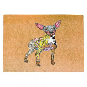 Countertop Place Mats | Marley Ungaro - Mini Pinscher Tan | Dog animal pattern abstract whimsical