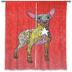 Decorative Window Treatments   Marley Ungaro - Mini Pinscher Watermelon   Dog animal pattern abstract whimsical