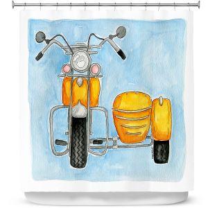 Premium Shower Curtains | Marley Ungaro - Motor Bike