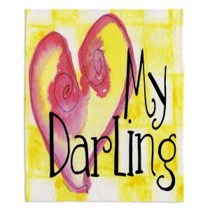 Decorative Fleece Throw Blankets | Marley Ungaro - My Darling Yellow