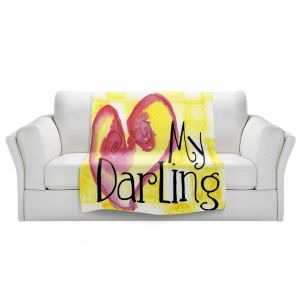Artistic Sherpa Pile Blankets | Marley Ungaro - My Darling Yellow