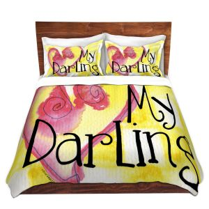 Artistic Duvet Covers and Shams Bedding | Marley Ungaro - My Darling Yellow
