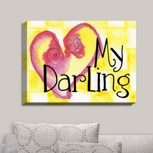 Decorative Canvas Wall Art | Marley Ungaro - My Darling Yellow | Love Quotes Sayings Inspiring