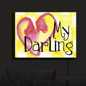 Nightlight Sconce Canvas Light | Marley Ungaro - My Darling Yellow | Love Quotes Sayings Inspiring
