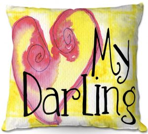 Decorative Outdoor Patio Pillow Cushion | Marley Ungaro - My Darling Yellow