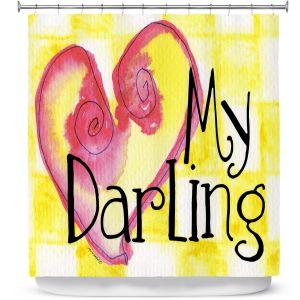 Premium Shower Curtains   Marley Ungaro - My Darling Yellow