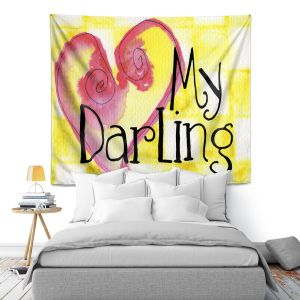 Artistic Wall Tapestry | Marley Ungaro - My Darling Yellow