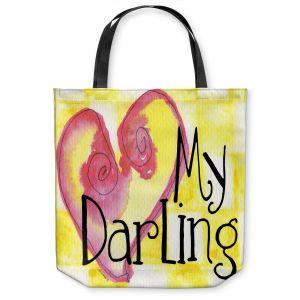 Unique Shoulder Bag Tote Bags | Marley Ungaro - My Darling Yellow