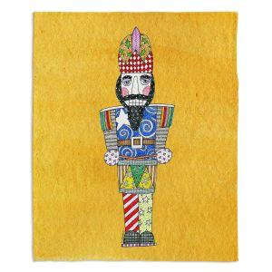 Decorative Fleece Throw Blankets | Marley Ungaro - Nutcracker Gold | Holidays Nutcracker Christmas Tradition