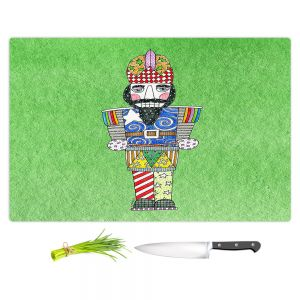 Artistic Kitchen Bar Cutting Boards | Marley Ungaro - Nutcracker Green | Holidays Nutcracker Christmas Tradition