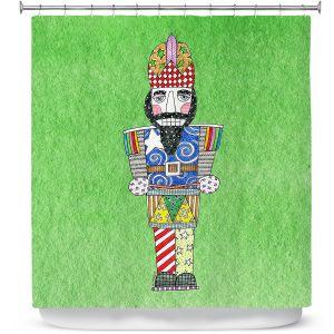 Premium Shower Curtains | Marley Ungaro - Nutcracker Green | Holidays Nutcracker Christmas Tradition