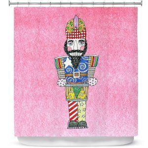 Premium Shower Curtains | Marley Ungaro - Nutcracker Light Pink | Holidays Nutcracker Christmas Tradition