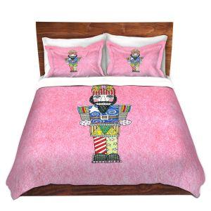 Artistic Duvet Covers and Shams Bedding | Marley Ungaro - Nutcracker Light Pink | Holidays Nutcracker Christmas Tradition