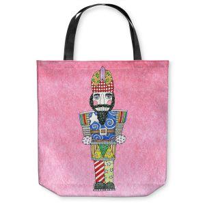 Unique Shoulder Bag Tote Bags | Marley Ungaro - Nutcracker Light Pink | Holidays Nutcracker Christmas Tradition