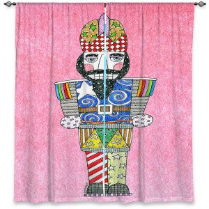 Decorative Window Treatments | Marley Ungaro - Nutcracker Light Pink | Holidays Nutcracker Christmas Tradition