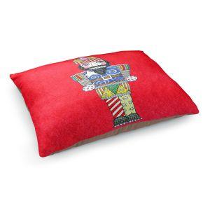 Decorative Dog Pet Beds   Marley Ungaro - Nutcracker Red   Holidays Nutcracker Christmas Tradition