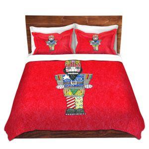 Artistic Duvet Covers and Shams Bedding | Marley Ungaro - Nutcracker Red | Holidays Nutcracker Christmas Tradition