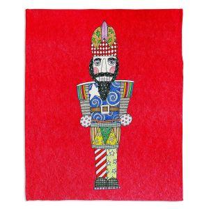 Decorative Fleece Throw Blankets | Marley Ungaro - Nutcracker Red | Holidays Nutcracker Christmas Tradition