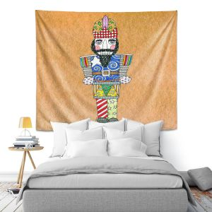 Artistic Wall Tapestry | Marley Ungaro - Nutcracker Tan | Holidays Nutcracker Christmas Tradition