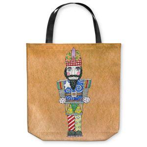 Unique Shoulder Bag Tote Bags | Marley Ungaro - Nutcracker Tan | Holidays Nutcracker Christmas Tradition