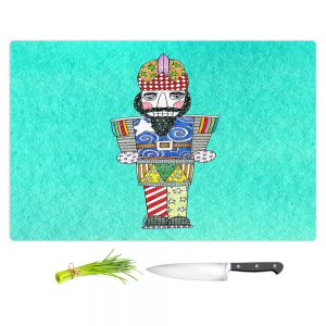 Artistic Kitchen Bar Cutting Boards | Marley Ungaro - Nutcracker Turquoise | Holidays Nutcracker Christmas Tradition