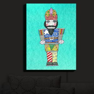 Nightlight Sconce Canvas Light | Marley Ungaro - Nutcracker Turquoise