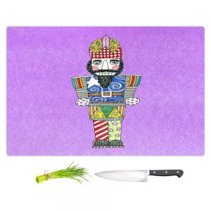 Artistic Kitchen Bar Cutting Boards | Marley Ungaro - Nutcracker Violet | Holidays Nutcracker Christmas Tradition