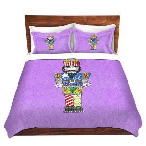 Artistic Duvet Covers and Shams Bedding | Marley Ungaro - Nutcracker Violet | Holidays Nutcracker Christmas Tradition