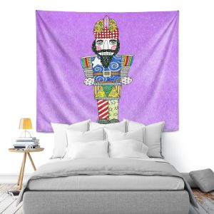 Artistic Wall Tapestry | Marley Ungaro - Nutcracker Violet | Holidays Nutcracker Christmas Tradition