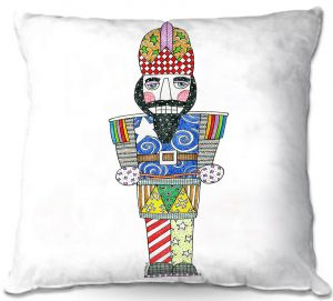 Throw Pillows Decorative Artistic   Marley Ungaro - Nutcracker White   Holidays Nutcracker Christmas Tradition