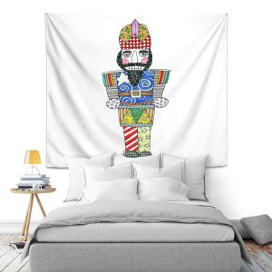 Artistic Wall Tapestry | Marley Ungaro - Nutcracker White | Holidays Nutcracker Christmas Tradition