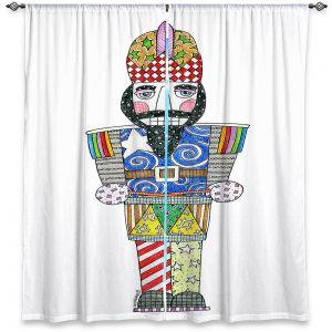 Decorative Window Treatments | Marley Ungaro - Nutcracker White | Holidays Nutcracker Christmas Tradition