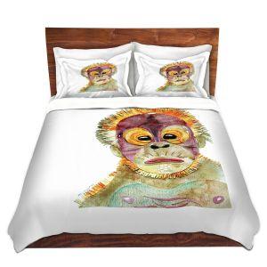 Artistic Duvet Covers and Shams Bedding | Marley Ungaro - Orangutan