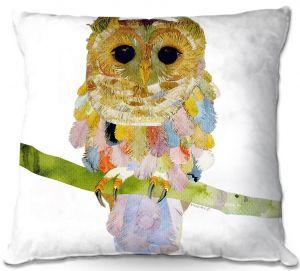 Decorative Outdoor Patio Pillow Cushion | Marley Ungaro - Owl