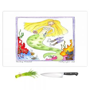 Artistic Kitchen Bar Cutting Boards | Marley Ungaro - Painting Mermaid