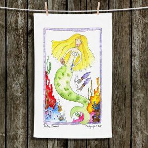 Unique Bathroom Towels | Marley Ungaro - Painting Mermaid