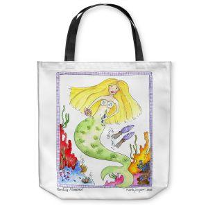 Unique Shoulder Bag Tote Bags | Marley Ungaro Painting Mermaid