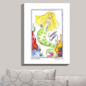 Decorative Canvas Wall Art | Marley Ungaro - Painting Mermaid